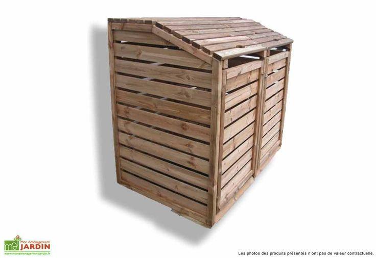 Votre cache poubelle double en bois de chez Habrita est une solution esthétique pour ranger vos poubelles disgracieuses. En pin traité autoclave classe 3, votre cache poubelle s'adosse à un mur. Il dispose d'une paroi arrière pour cacher parfaitement ... (suite)