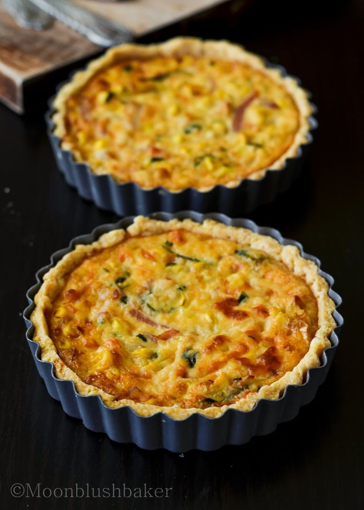 The moonblush Baker: The science of Yum /-/ Eggless double corn Quiche
