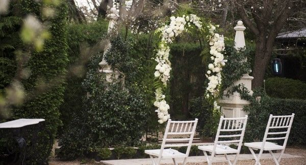 A glimpse of a heavenly arch in the ceremony area.