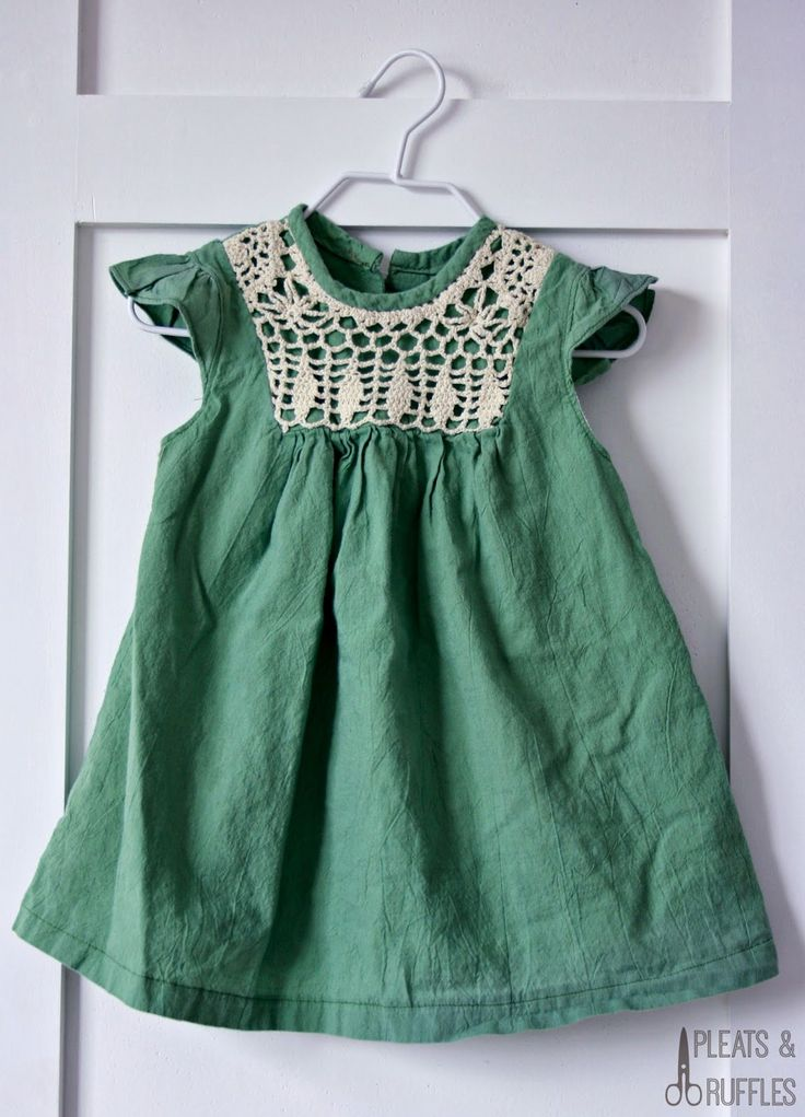 Beautiful green baby dress