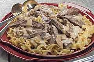Classic Beef Stroganoff. I made this with left over steak. My family really liked it, very tasty.