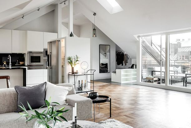 Stunning Attic Apartment In Stockholm