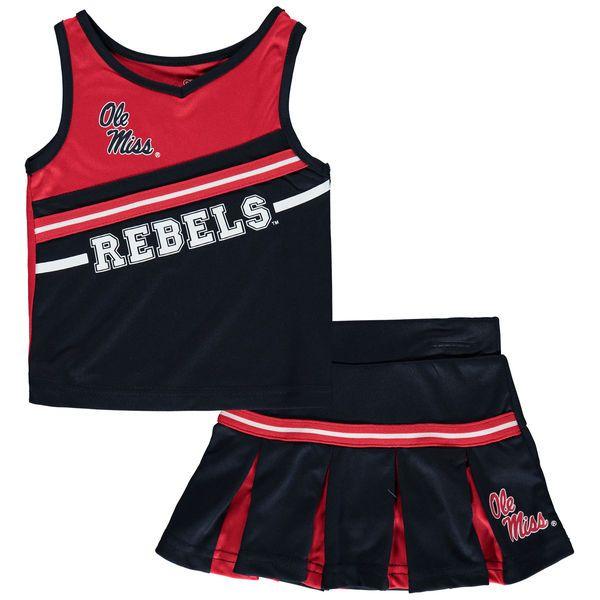 Ole Miss Rebels Colosseum Girls Toddler Curling Cheer Set - Navy - $29.99