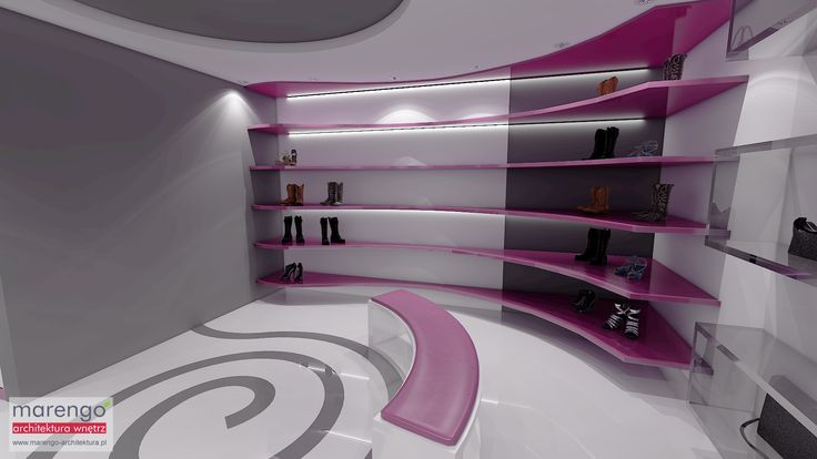 Projekt wnętrza salonu obuwniczego w Katowicach, więcej na: http://marengo-architektura.pl/portfolio/salon-obuwniczy-projektowanie-wnetrz-katowice/