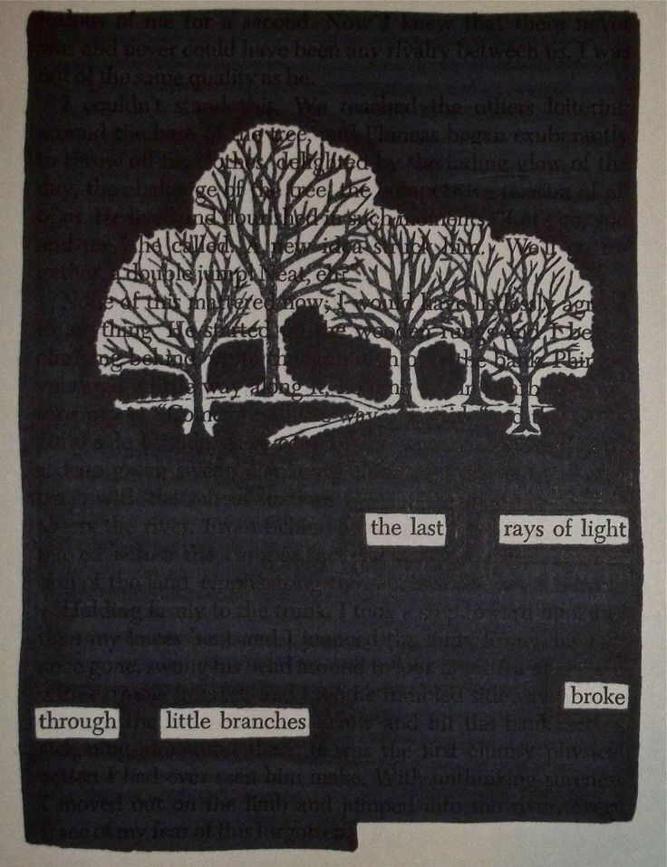 - - - Black out poetry: c.b.w. 2015 Source: A Separate Peace by John Knowles More Black Out Poetry