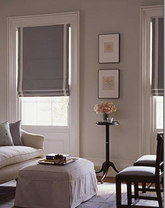 Flat Fold Roman Shades with Banding