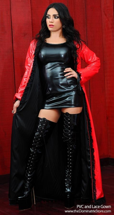 Dominant girls in latex and boots whipping men
