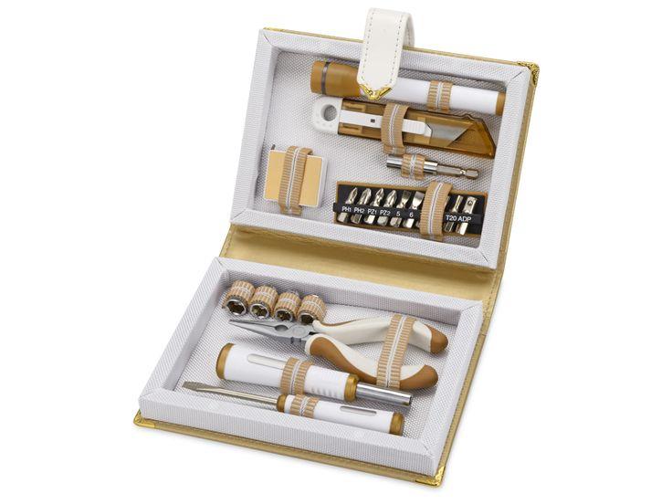 Набор инструментов «Lifebook» Оригинальный подарок-сюрприз: набор инструментов в футляре в виде книги. В набор входит 21 предмет: рулетка, отвертка, ручка для сменных насадок и 10 насадок в резиновой подставке, плоскогубцы, канцелярский нож, гаечный ключ и четыре наса