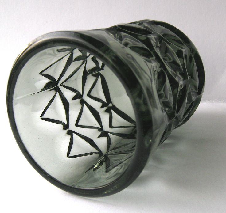 Vintage Grey Glass Vase Designed by Jan Sylvester Drost Sklo Union Era | eBay