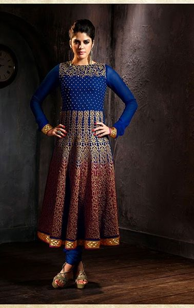 Picture of Tranquil Blue Indian Salwar Kameez