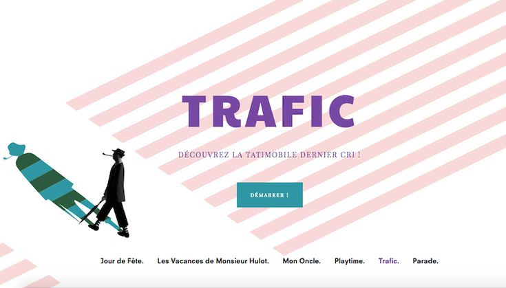 <p>Hosted on the cultural European TV channel ARTE, Tati Express is an online video game that allows you to dive into the world of a famous French director Jacques Tati. Created by a Parisian studio F