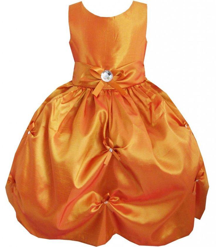 Sunny Fashion Robe Fille Bronze Plissé Fleur Mariage Partie: Amazon.fr: Vêtements et accessoires