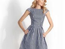 Sukienka FLARE Marine Roz.34-42