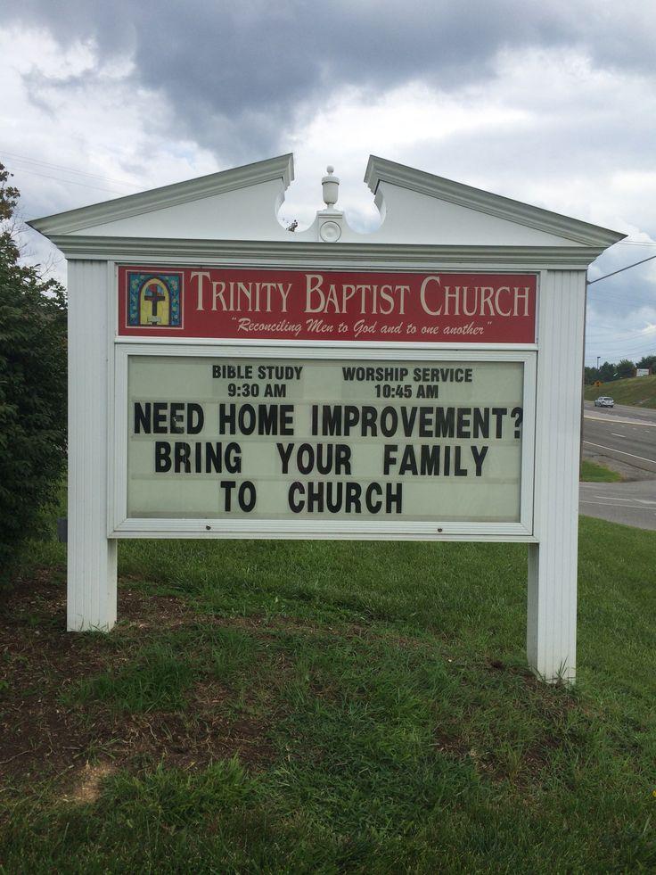 Trinity Baptist Church Christiansburg, Va  Sign/marquee