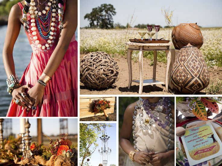 Love this African Wedding inspiration board from @Sara {Burnett's Boards}