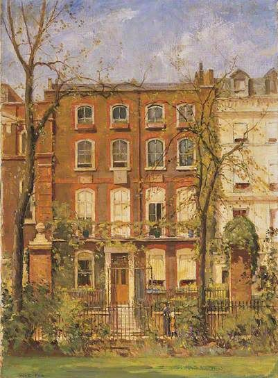 Number 15, Cheyne Walk, Chelsea, London c.1916 by William Edward Fox (British 1872-1948)