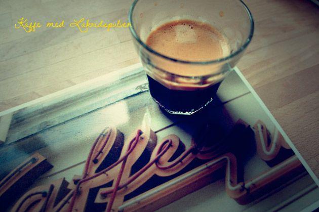 Lakrids og kaffe - kan det mon blive bedre?