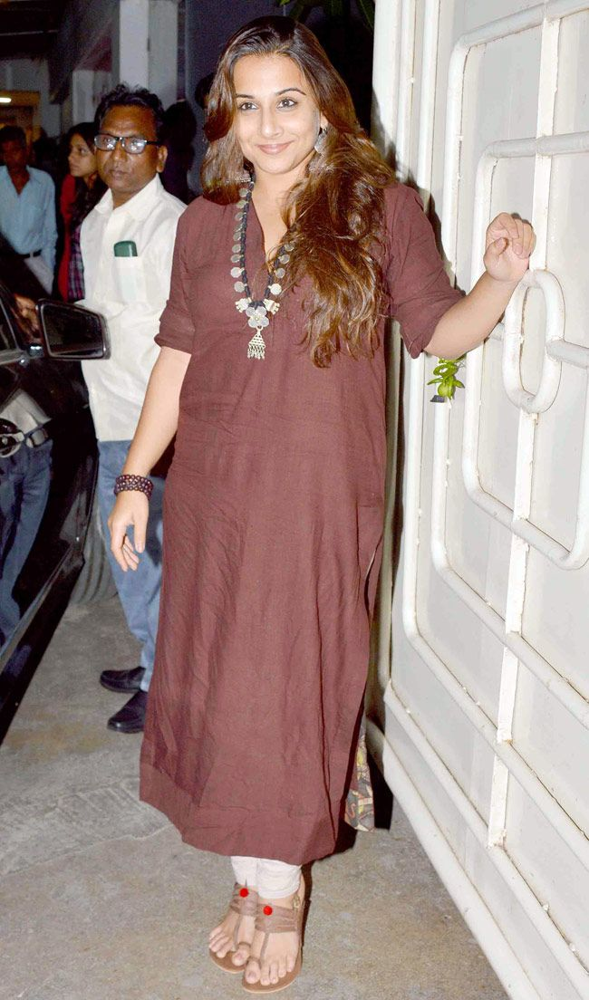 Vidya Balan at the screening of 'Hamari Adhuri Kahani'. #Bollywood #Fashion #Style #Beauty