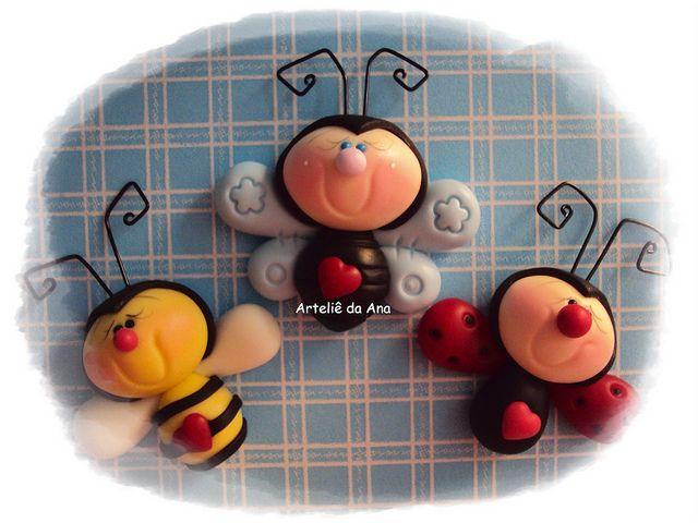 abeja y mariquita
