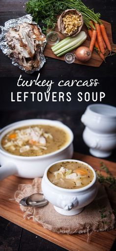 Make a hearty soup with that leftover trukey carcass! This recipe shows you how to use the entire bird to make this healthy, good-for-you soup without having to waste any food. Save this for right after Thanksgiving! Recipe here: http://www.ehow.com/how_2148178_turkey-soup-leftover-carcass.html?utm_source=pinterest.com&utm_medium=referral&utm_content=freestyle&utm_campaign=fanpage