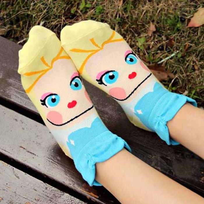 Frozen toes?  Let our Kawaii Ice Queen Socks come to the rescue!  Whether you're snuggled in for an evening of Netflix or preparing to go outside to build a snowman, these socks will be happy to accompany you on whatever adventure awaits!