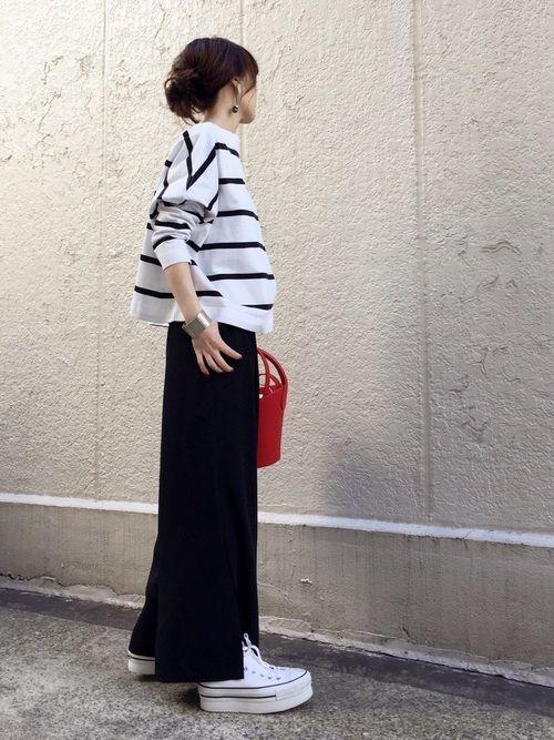 Traditional WeatherwearのTシャツ・カットソー「【2017SS先行予約】【Traditional Weather Wear】別注 ビッグマリンボートネックボーダーカットソー」を使ったari☆のコーディネートです。WEARはモデル・俳優・ショップスタッフなどの着こなしをチェックできるファッションコーディネートサイトです。