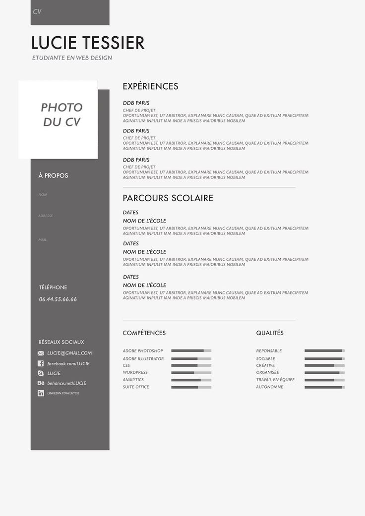 17 best ideas about cv moderne on pinterest