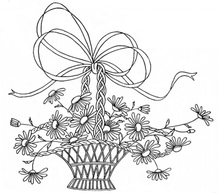 Vintage Embroidery Designs — Baskets