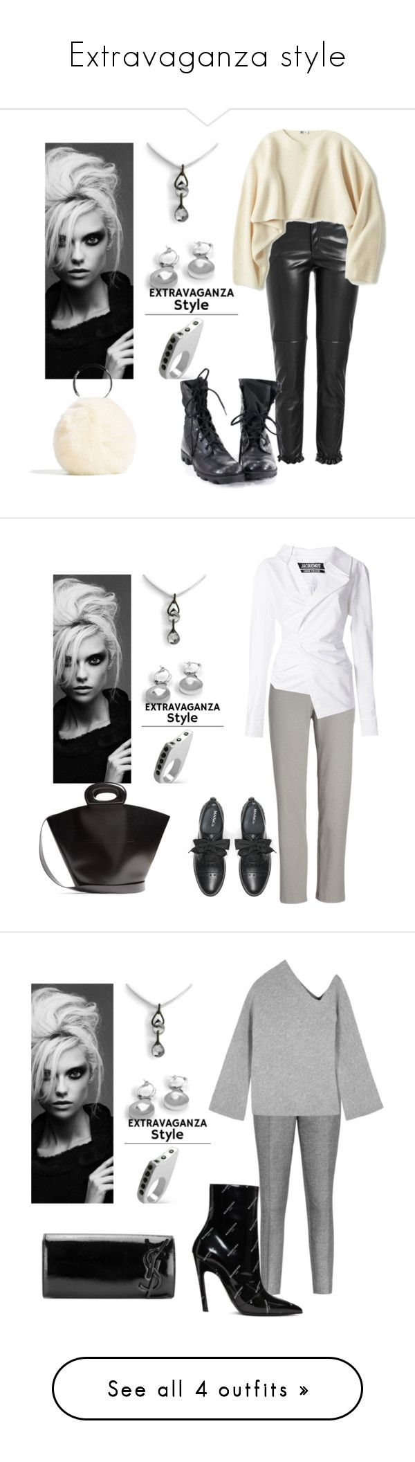 Extravaganza style by sofiacalo on Polyvore featuring polyvore fashion style Philosophy di Lorenzo Serafini Uniqlo clothing Eileen Fisher Jacquemus Max&Co. Lemaire Reiss A.L.C. Balenciaga Yves Saint Laurent Alexander Wang Christian Louboutin