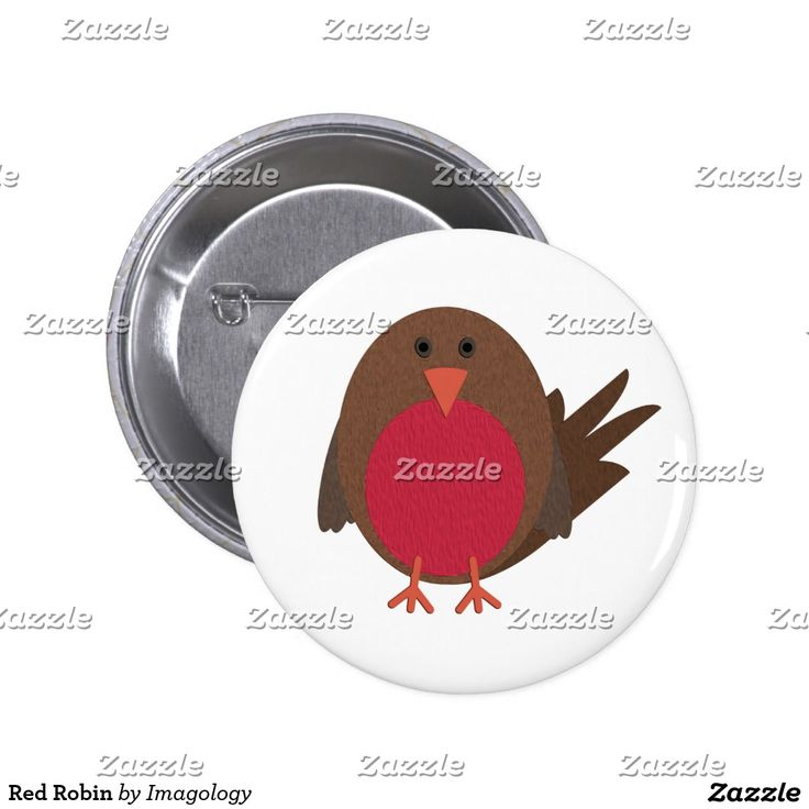 Red Robin Pinback Button