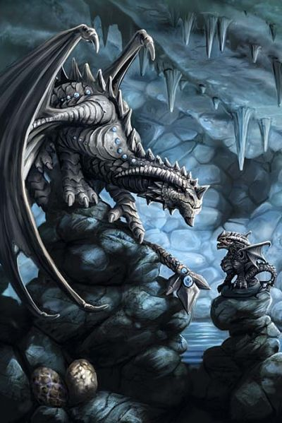 Anne Stokes Dragon Age Card - Rock Dragon