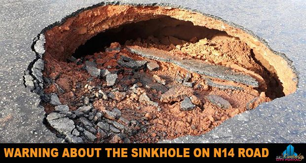 "WARNING: Sinkhole on the N14 Kuruman - http://www.kimberley.org.za/warning-sinkhole-n14-road/?utm_source=PN&utm_medium=Pinterest+History+KImberley.org.za&utm_campaign=NxtScrpt%2Bfrom%2BKimberley+City+Info - Warning about the Sinkhole on N14 Road ""Ga-Segonyana Local Municipality would like to inform and warn the communities of Ga-Segonyana of the Sinkhole that has occurred on the N14 Road infront of the Kuruman Hospital in Kuruman town. The Sinkhole occurred due to the h"