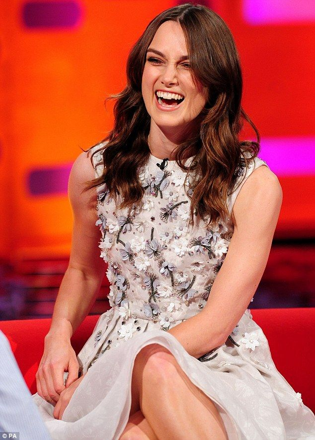 Seeing the funny side! Speaking about flick Begin Again, Keira said: 'I like singing if I'...