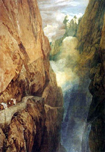 St. Gotthard's Pass in Switzerland, by JMW Turner, 1804