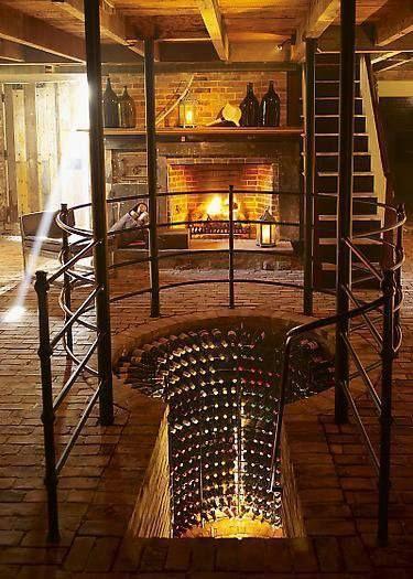 cool wine cellar............