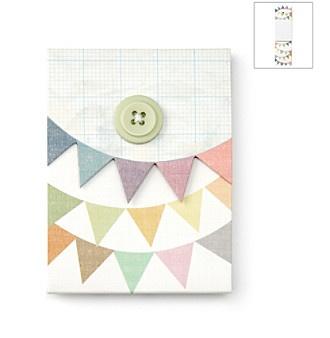 Bunting flag notepad $9