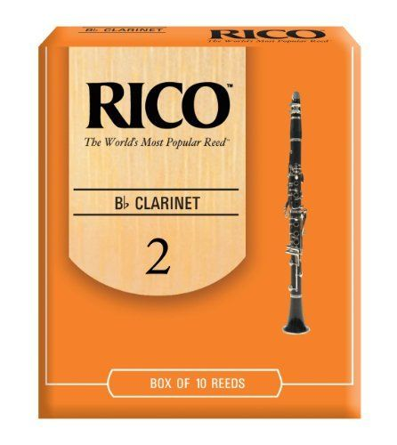 Rico Bb Clarinet Reeds, Strength 2.0, 10-pack by D'Addario  Inc. $12.49. From the Manufacturer                Designed for a wide variety of playing situations, Rico Reeds in strength 2.0 are designed to vibrate easily. Featuring an unfiled cut and thinner vamp, Rico offers an ease of play that, combined with its affordable price and convenient packaging options, explains why more musicians worldwide find Rico the best value. Rico reeds have been the standard among re...