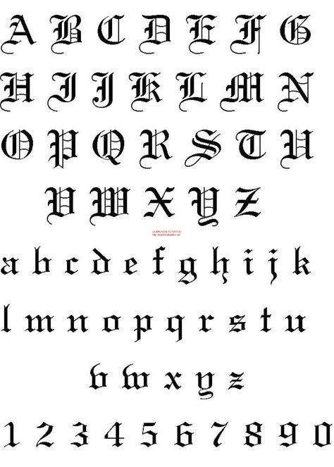 fonts for tattoos