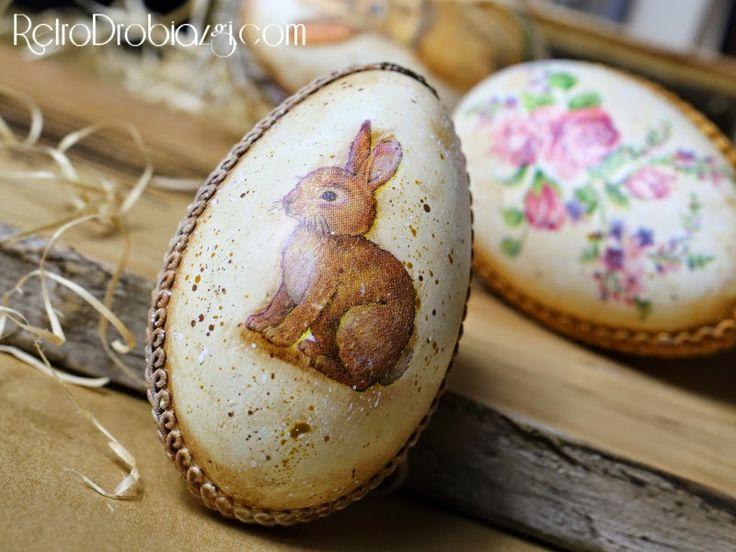 easter egg, bunny, decoupage vintage.