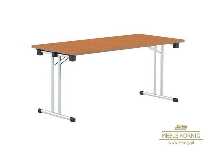 Stół składany z lekką stabilną konstrukcją polecany do sal konferencyjnych, posiada stelaż chromowany