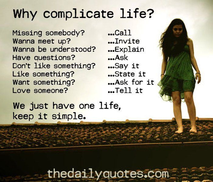 Why I Don T Like Motivational Quotes: 17 Best Ideas About Why Complicate Life On Pinterest