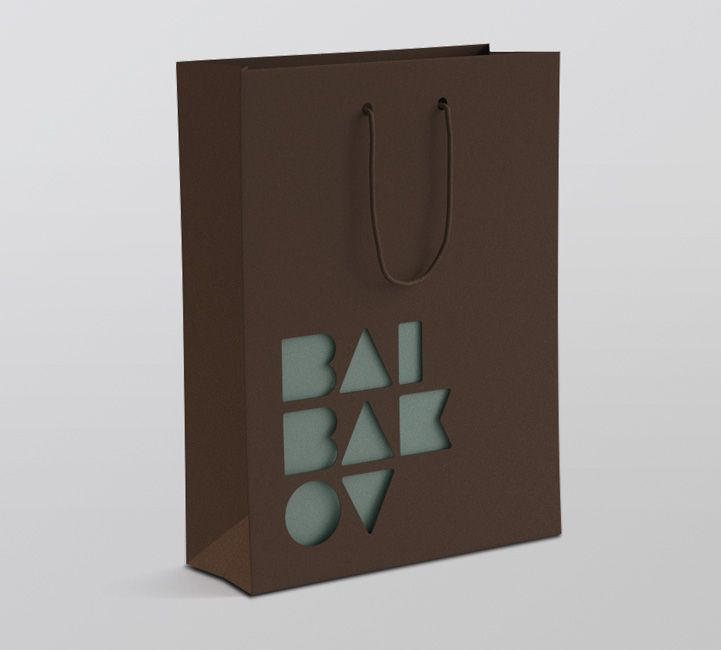 dye cut 2 tone retail bag, love the brown with the drop out to the blue/green color. Very sophisticated...