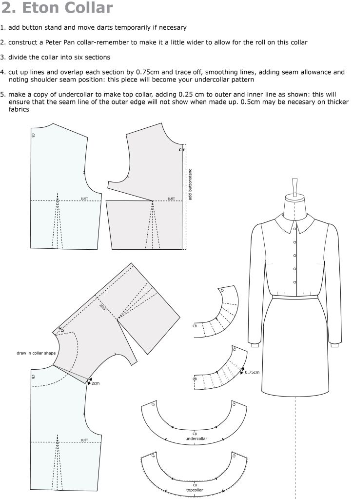 Pattern Drafting Eton Collar Sewing And Knitting