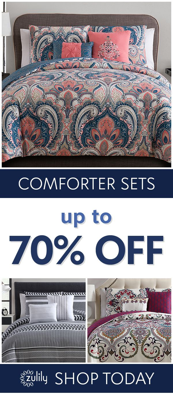 Sign up to shop bedding - up to 70% off. New bedding provides the perfect way to help ensure a good night's rest and refresh the bedroom all at once. Our affordable selection of linens,  comforters, bedding sets, quilts and more features a variety of designs. Whether dressing your bohemian master bedroom,  vintage-inspired guest bedroom or even a classic dorm room, ensure that every loved one gets a good night's sleep with our comfy assortment.