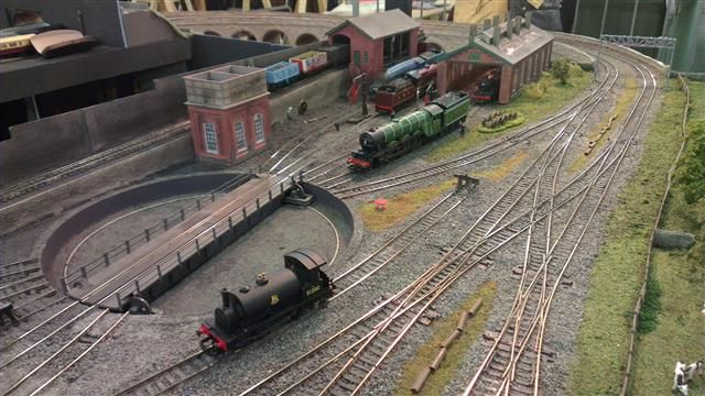 Image result for where to sight a oo model railway turntable