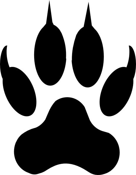 Best 25 paw print clip art ideas on pinterest paw print for Tiger paw template