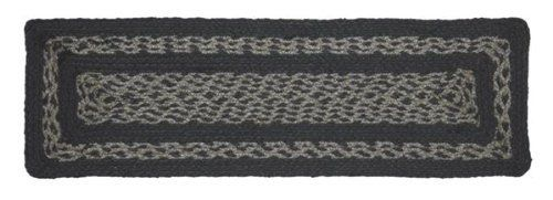 "Gunmetal Jute Stair Tread Rectanglar 8.5x27"" by Victorian Heart. $5.95. All cloth items in our collections are 100% preshrunk cotton. All braided items (like rugs, baskets, etc.) are 100% jute. Extensive line of matching items and accessories available! (Search by Collection name). Product measurements and additional details listed in title and/or Product Description below.. See Product Description below for more details!. High end quality and workmanship!. 100% Jute"