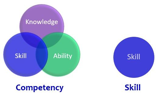 difference between competencies and skills