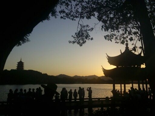 Sunset from West Lake, Hangzhou