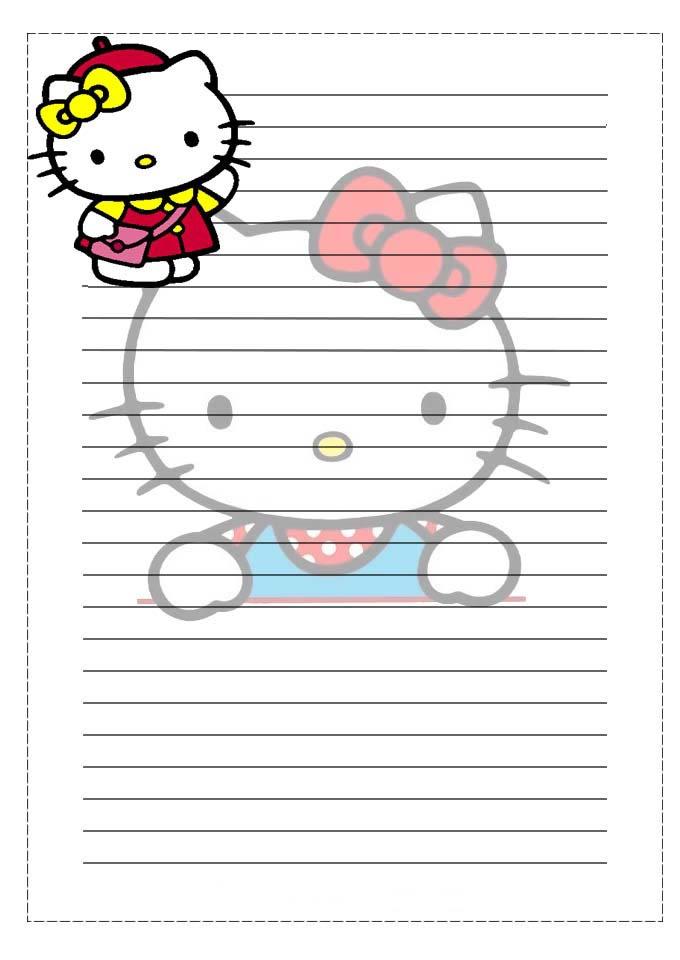 PAPEL DE CARTA: Hello Kitty